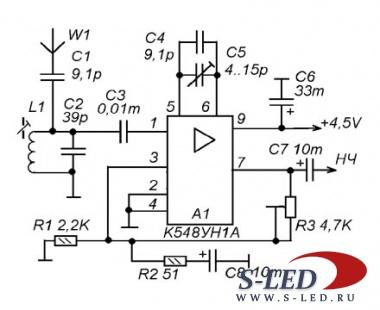 Микросхема К548УН1А представляет собой двухканальный малошумящий низкочастотный усилитель и применяется, обычно, в...
