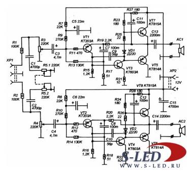 Транзисторный усилитель для