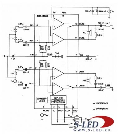 Микросхема УМЗЧ TDA1563Q