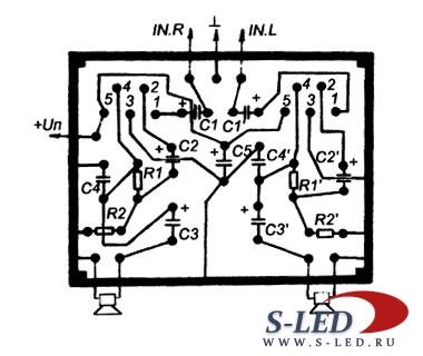 Схема ремонтного модуля УМЗЧ