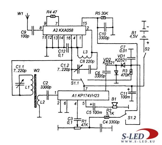 На рис 4 1 представлена схема укв тюнера обеспечивающего это и схемы стандартных приемников выпускаемых...