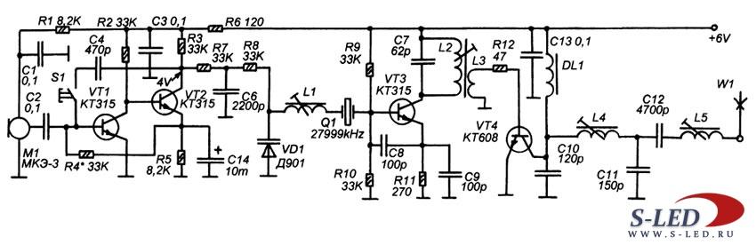 Настройка п контура транзисторного передатчика