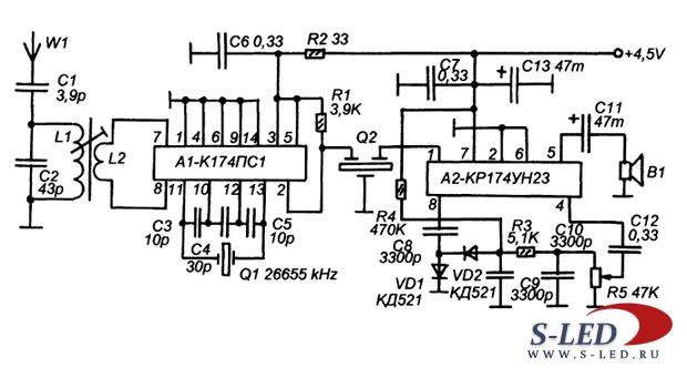 Схема AM-приемного тракта СВ-