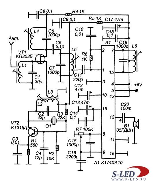Схема приемного тракта СВ-FM