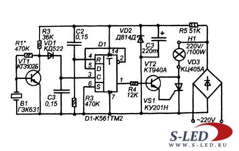 Схема сенсорного акустического