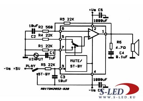 Микросхема TDA7298