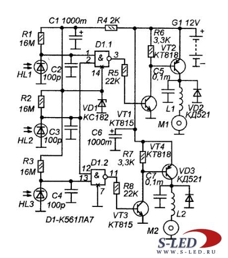 схема радиоуправляемые игрушки