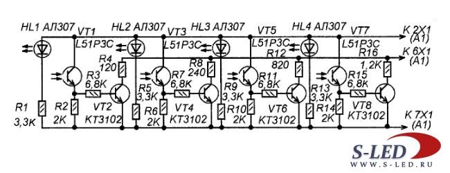 Схема лазерного дистанционного