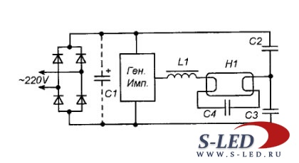 принципиальная схема на кулон 707