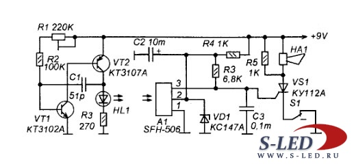 Схема ИК-барьера