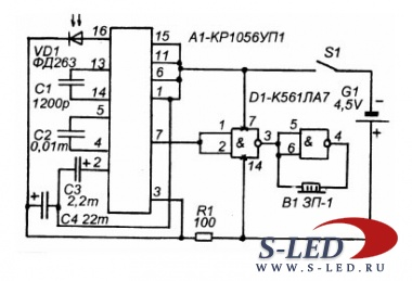 Telemando устройство дистанционного тестирования схема