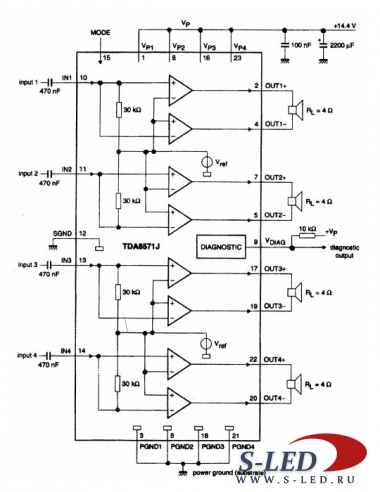 Микросхема УМЗЧ TDA8571J