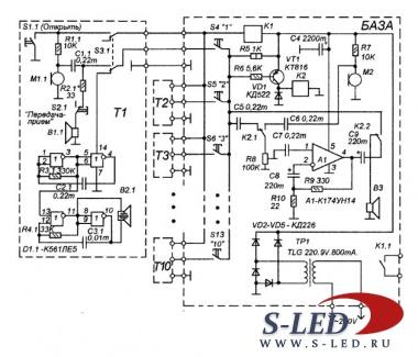 электрическая схема жилого дома