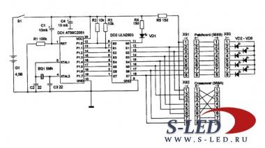 Схема тестера проводов