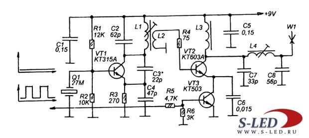 Схема радиотракта системы