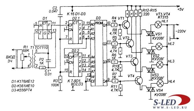 Схема светодинамической