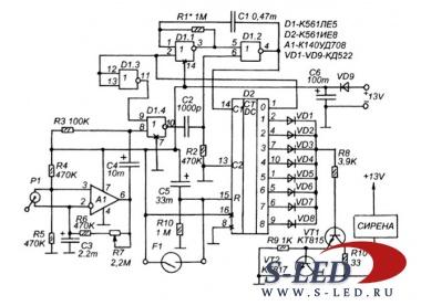 Схема двухтональной сирены для ваз 2106.  Авто страница 3 s led ru светодиоды и электронные lt b gt схемы lt b gt.