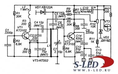 Схема укв генератора для приема радиостанций s led ru светодиоды