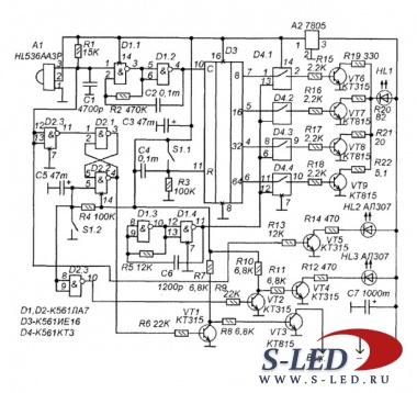 схема простого акустического выключателя освещения. схема инжекторов.