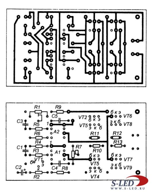 Схема простого стереоусилителя