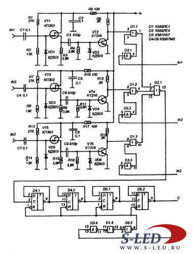 Микросхемы К174ХА2 и К174УР3. Схема, описание