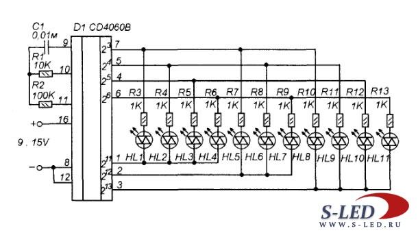 Схема автомата переключателя