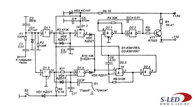 схема такого сигнализатора