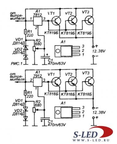 схема электрическая принципиальная стабилизатора luxor 500 в