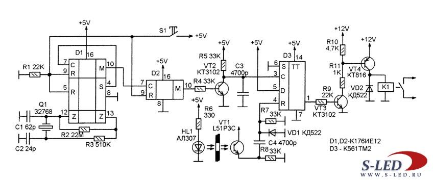 Схема устройства поворота